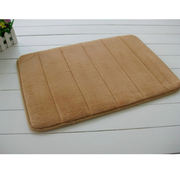 Custom size color bedroom door mat washable brown memory foam rugs