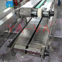 YA-VA customized double lanes steel conveyor belt stainless steel plate conveyor