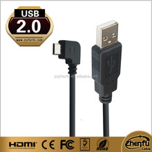 New PRODUCT left angle micro usb charging data cable for android systerm smartphone