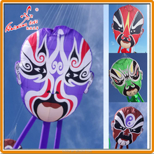 Peking Opera face line laundry, inflatble kite, large show kite from weifang kite factory.