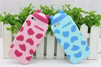 Hot Sale Universal 3D Cute Silicone Dairy Cow Milk Case for iPhone5 5s 6 6s 6 6s plus TPU Case