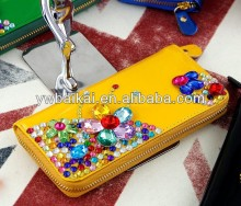fashion reinestone wallet/diamond flower lady wallet