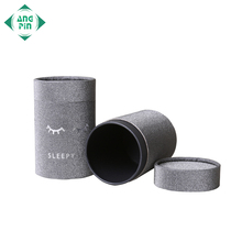 Custom cylinder packaging paper box round cardboard food grade tea kraft cosmetic paper tube packaging