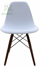 Plastic DSW Chair with walnut color timber legs, Charles Side Chair