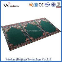 Luxury portable muslim prayer mat with chiese factory