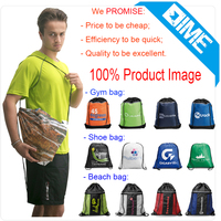 2015 Hot Cheaper Fabirc Drawstring Backpack Shoe Bag /Promotional Drawstring Backpack