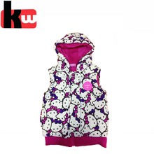Winter Baby Padding Jacket Cute Waterproof New Born Baby Sleeveless Clothes For Girls