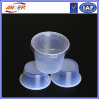 1oz transparent plastic cup for food