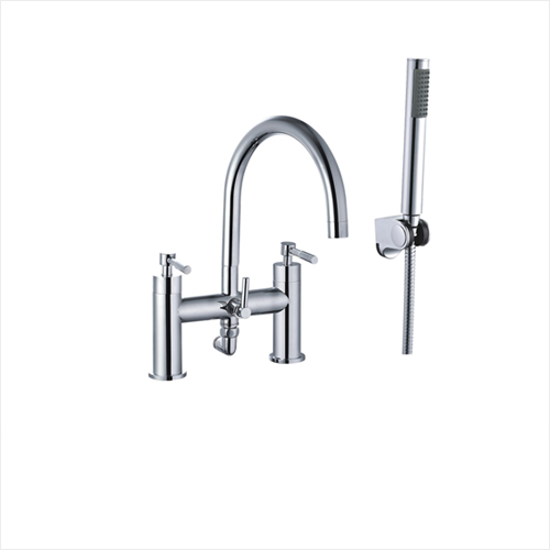 Luxury Bathroom Dual Lever Bath Shower Mixer With ABS Handset Holder