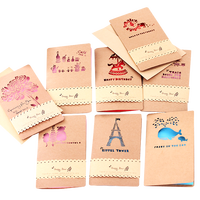 Custom kraft paper greeting card and envelope thank you card and envelopes