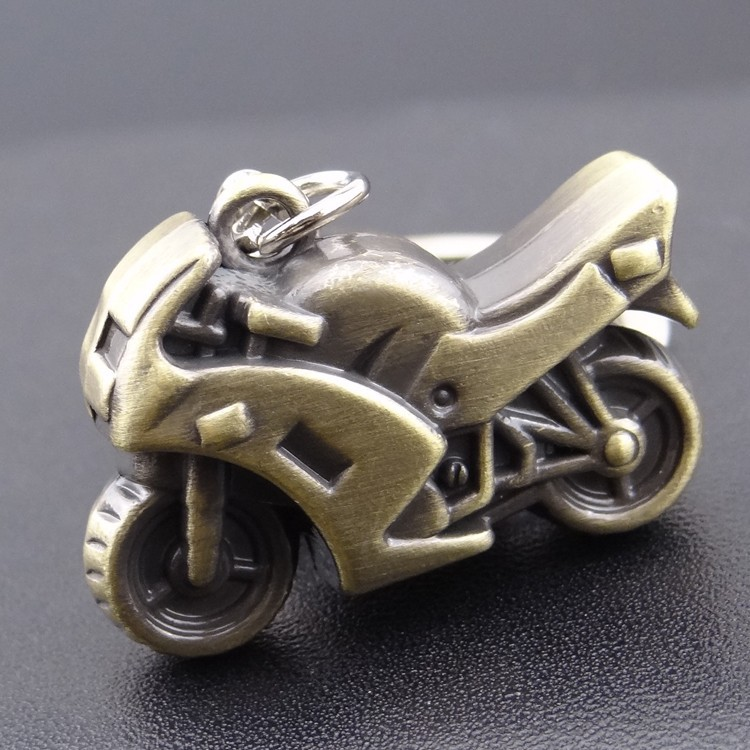 Brass small motorcycle key chain, simulation motorcycle for men key ring keychain