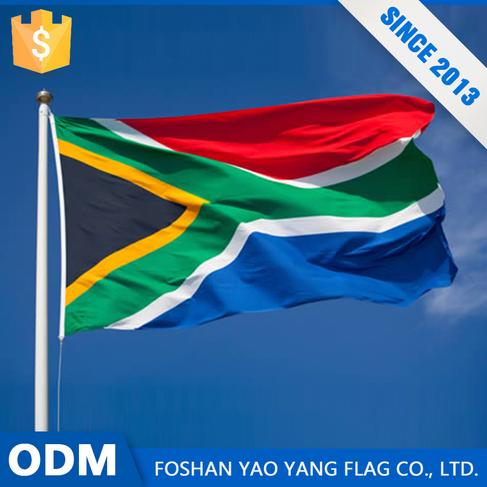 Wholesale Alibaba Custom All Size Large South Africa Flag Fabric