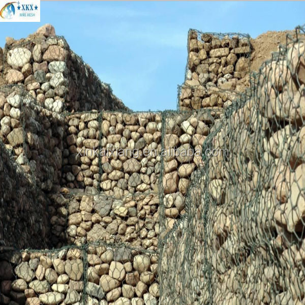 China supply hexagonal gabion box/ chicken gabion cage/gabion basket stone cage and PVC coated Gabion Baskets