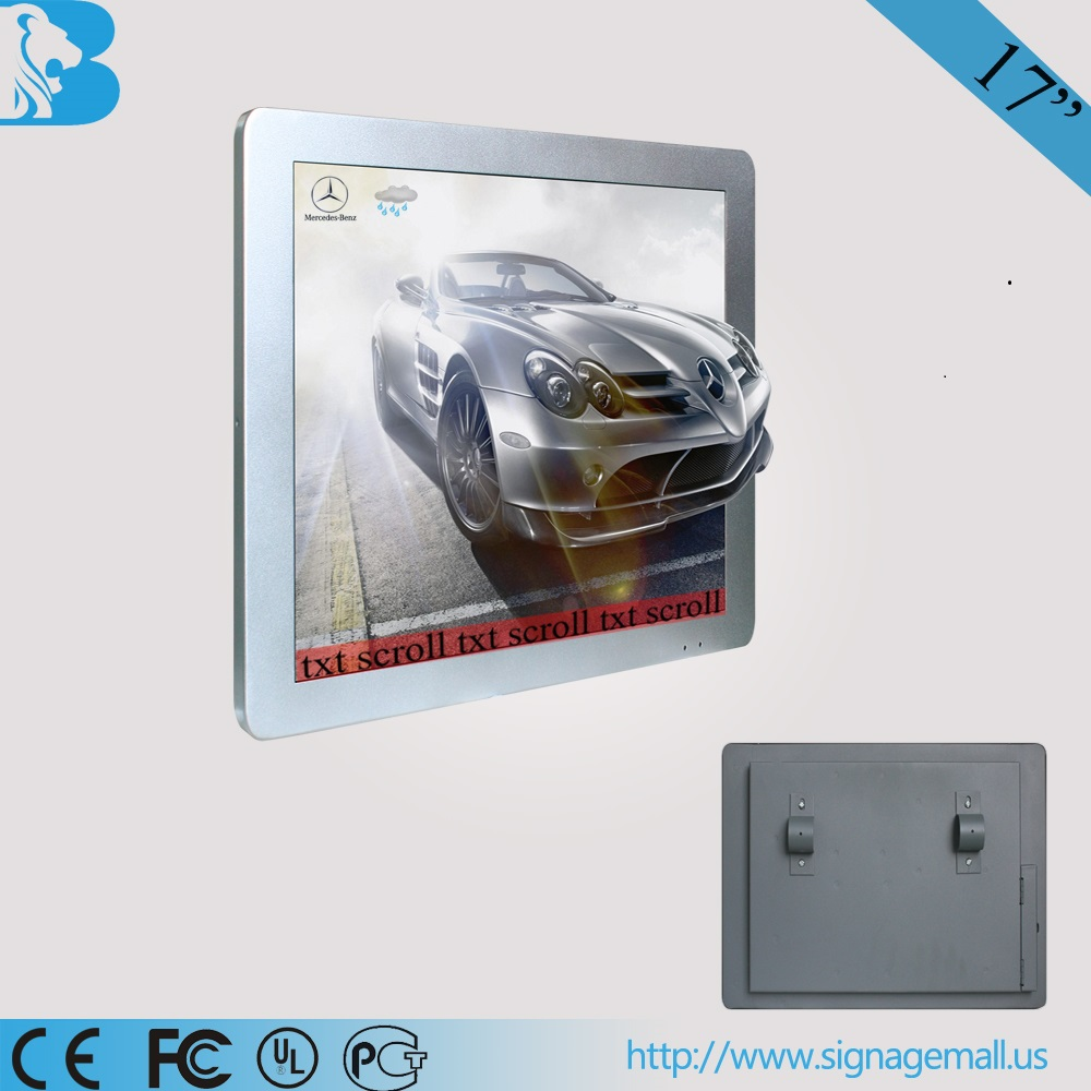 15 inch wall mounted mini bus tv LCD monitor
