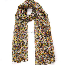 Latest Flower Printed Stylish Muslim Hijabs For Women (EL1083)