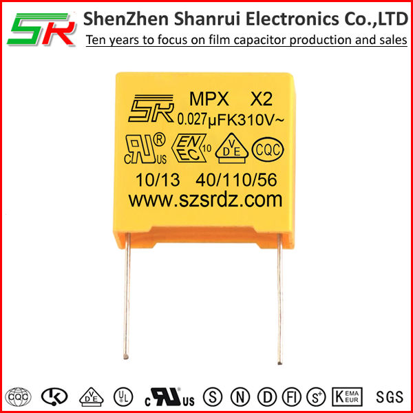 UL VDE ENEC listed MKP x2 capacitor 0.1uf x2 275v for power supply