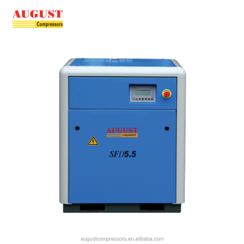 SFD5.5D 5.5KW/7.5HP 8 bar AUGUST stationary air cooled screw type air compressor mini compressor