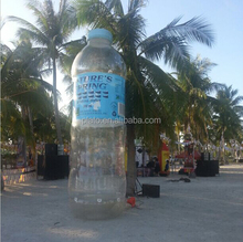 Advertising inflatable clear bottle replica model,inflatable replica water bottle