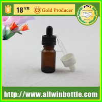 Food Grade Amber Glass Pipette Bottle for Essential Oil 5ml