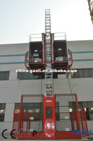 Electric Pwered Big Size passenger and material Lifting Hoist/ elevator / lift with Frequency Motor