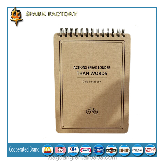 Spark brand concise style harcover notebook for retail/diary