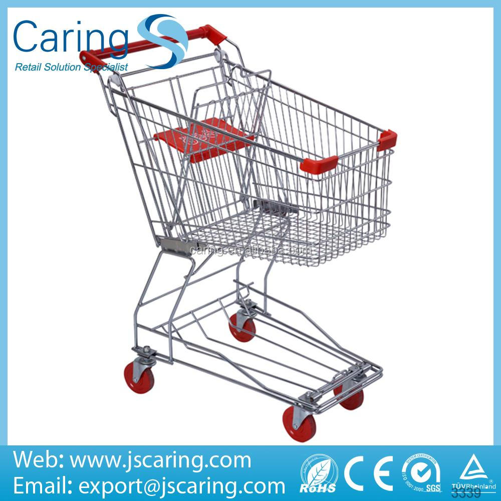 Besting selling and good quality Asian style Galvanized Supermarket Trolley