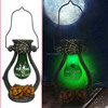 Polyresin Pumpkin Led Barn Lantern Rchargeable