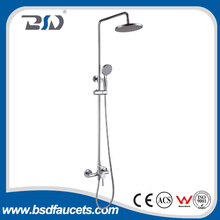 China Supplier Modern Brass Rainfall Bath Shower Set Chrome Wall Mounted Faucet Bathroom Shower Set