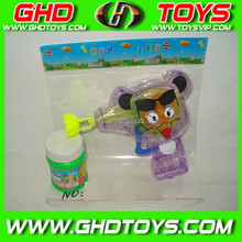Sugar bubble gun cartoon face cheap small plastic candy sugar toys for sale for gift FOOD TEST