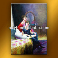 Latest african art paintings with two hot girls for hall decor