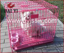 China Factory Direct Cheap Pink Dog Crate And Double Dog Kennel For Dogs Travel