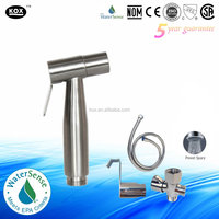 Premium Stainless steel Brushed Nickel Handheld baby cloth diaper sprayer KIT