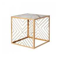 Modern Wood Design Marble Side Table Coffee Table