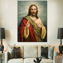 Jesus Christ HD Picture Canvas Custom Print Painting Home Decor Wall Art Canvas Painting With LED Light
