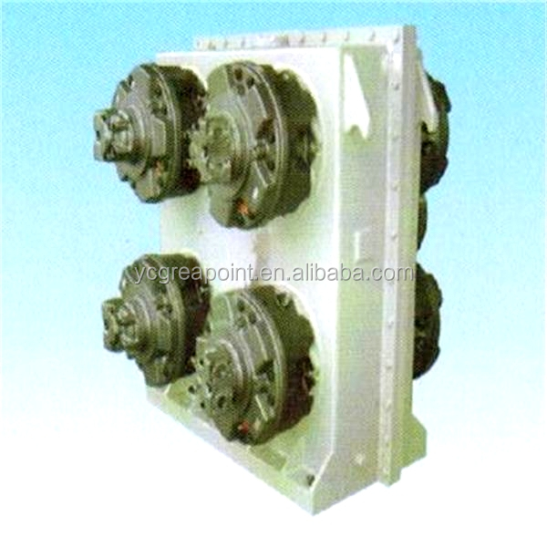 Reduction gear box for underwater mud pump