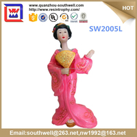 wholesale japanese girl figurines and japanese girl Figurine Crafts and resin japanese geisha doll