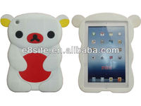 For iPad Mini Case 3D Bear Silicone Cover
