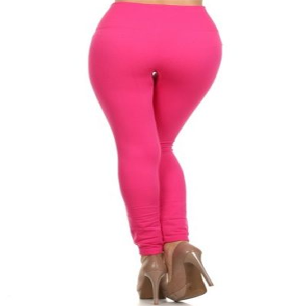 Women Solid Full Length Seamless Stretch Footless Stockings Long Pants Leggings red color