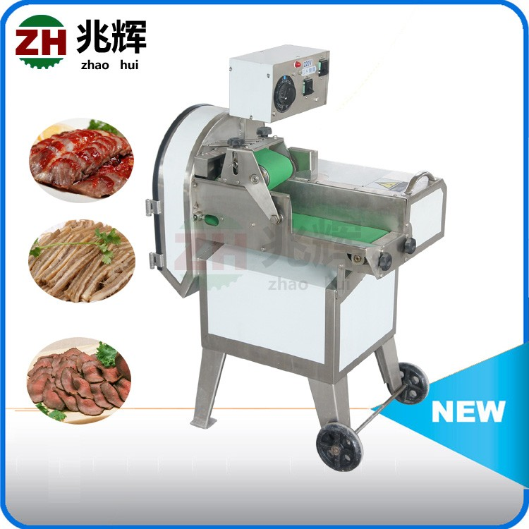 Restaurant Professional Semi Automatic Cooked Beef Meat Slicer Cutting size adjustable