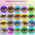 freeshipping with case in 50 pairs luxury color lenses hollywood contact lenses halloween hollywood contact len