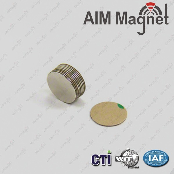 N35 10x2mm Round Adhensive Magnet for package box