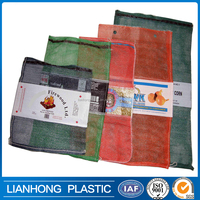 30x60cm 45x75cm 50x80cm vegetable fruit mesh bag , PP leno mesh bag with logo/label/band