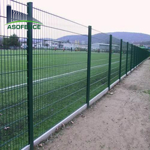 Powder panited galvanized 2d 656 868 double wire mehs fence