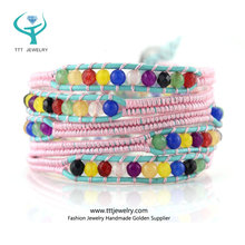 For Men Wholesale Diy Leather Instructions Beaded Cuff Wrap Bracelet