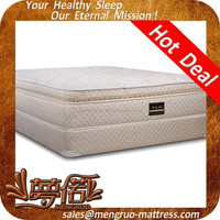 pillow top pocket spring foam mattress and box spring