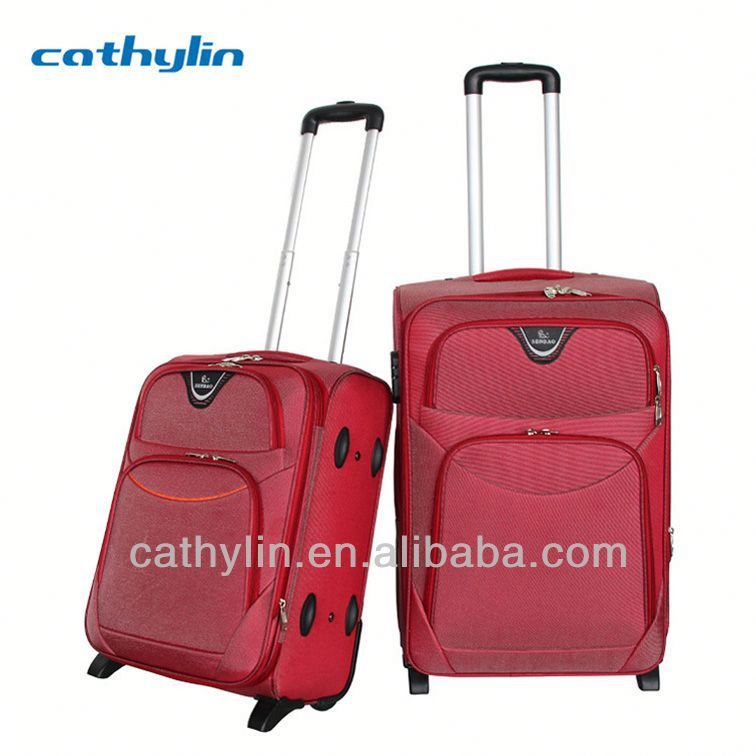 Nylon EVA luggage cheap stocklot 3 pieces trolley luggage
