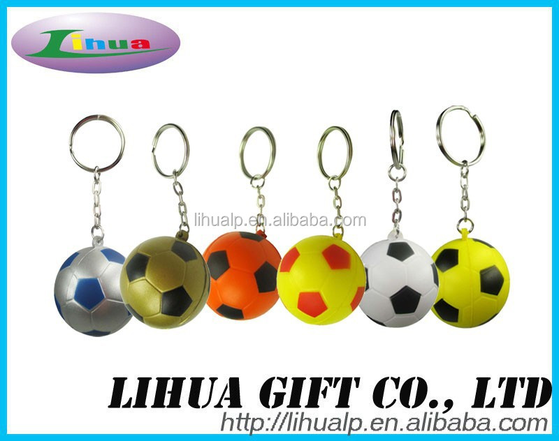 PU Anti Stress Ball Keyring