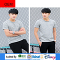 Top Selling Royal gray Organic Cotton Shirt Plain Sport Causal suit T Shirt for Men in China Supplier