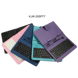 wholesale portable wired pu smartphone 7 inch tablet case with keyboard usb