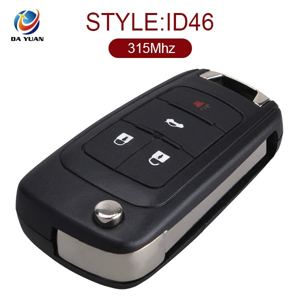 Smart Key for Chevrolet Cruze Car Key 4 button remote Flip key 315MHZ ID46 AK014006